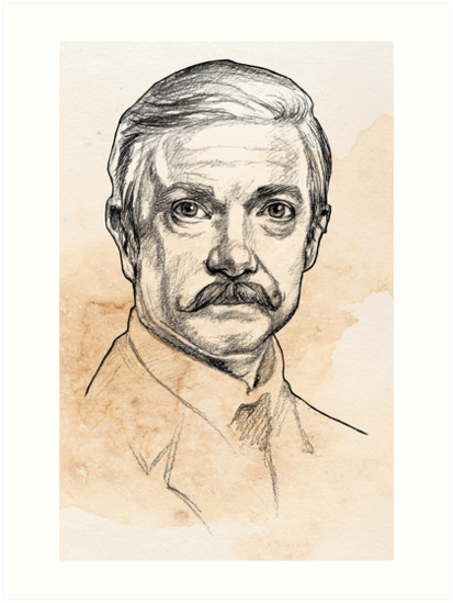 «El Dr. John H. Watson - Martin Freeman Portrait Sketch Abominable Bride» de Christina G. Smith