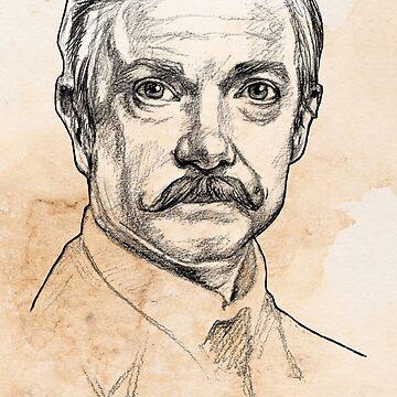 El Dr. John H. Watson - Martin Freeman Portrait Sketch Abominable Bride de Rvaya