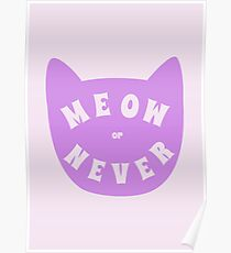 Meow or never Poster