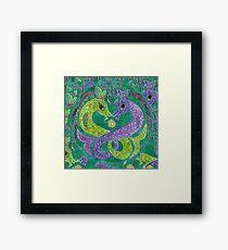 Mandala, kelpies Framed Print