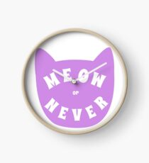 Meow or never Clock