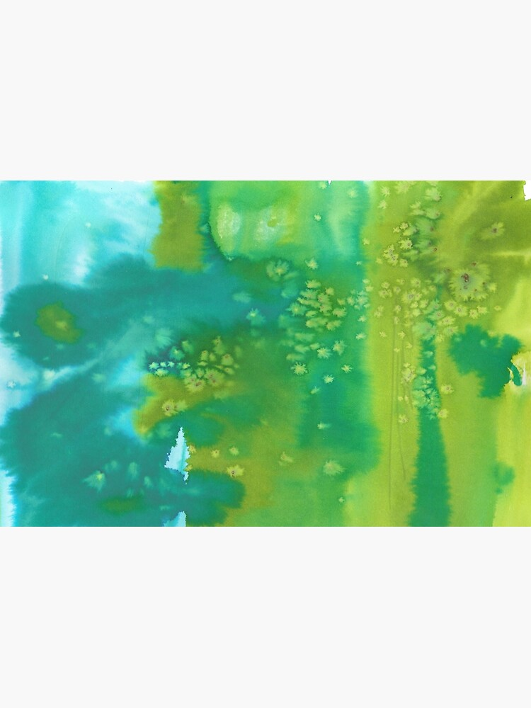 Mermaid dreams blue and green abstract watercolor pattern by shoshannahscrib