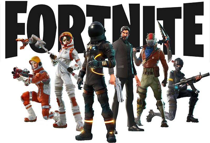 U0026quot Fortnite Logo And Characters Tshirt U0026quot Stickers By