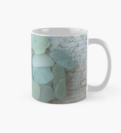 Sea Foam Sea Glass on Weathered Wood Mug