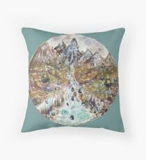 sketch of fairy pools Throw Pillow
