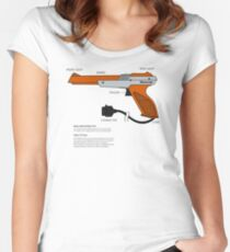 Nes Zapper Shoot them! Women's Fitted Scoop T-Shirt