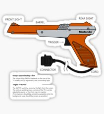 Nes Zapper Shoot them! Sticker