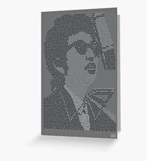 Bob Dylan Lyric Portrait Greeting Card