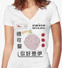 Le Petit Miaou Women's Fitted V-Neck T-Shirt