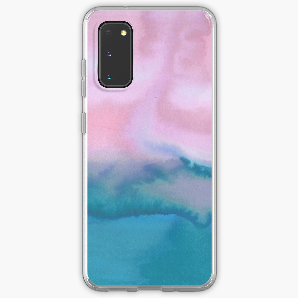 Pink and blue just for you - abstract watercolor art  Case & Skin for Samsung Galaxy