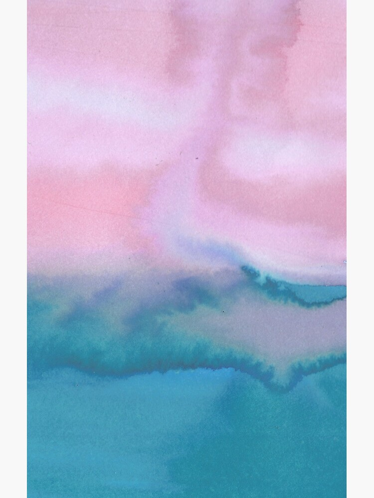 Pink and blue just for you - abstract watercolor art  by shoshannahscrib