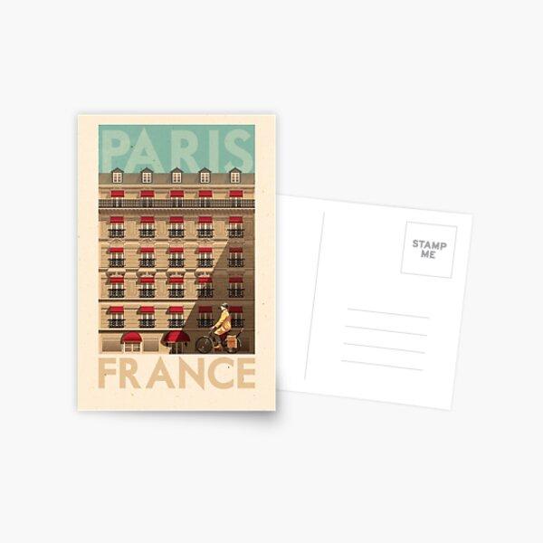 Travel Posters - Paris France Postcard