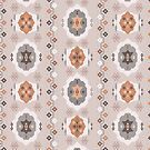 Boho Baby // Middle Eastern Metallic // Nana's Turkish Kilim Carpet in Copper & Gunmetal Gray by ZirkusDesign