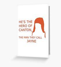 Hero of Canton Greeting Card
