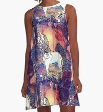 Das letzte Einhorn A-Linien Kleid