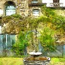 Fountain in the castle garden by Giuseppe Cocco