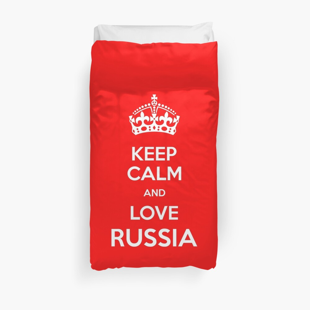 Keep Calm and Love Russia Duvet Cover
