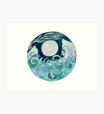 stormy Mandala Art Print