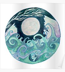 stormy Mandala Poster
