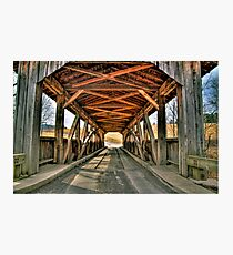 Luthers Mills Covered Bridge Photographic Print