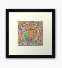 mandala Byzantium beasties Framed Print