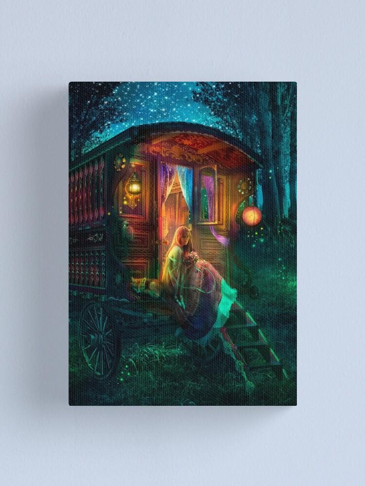 Alternate view of Gypsy Firefly Canvas Print