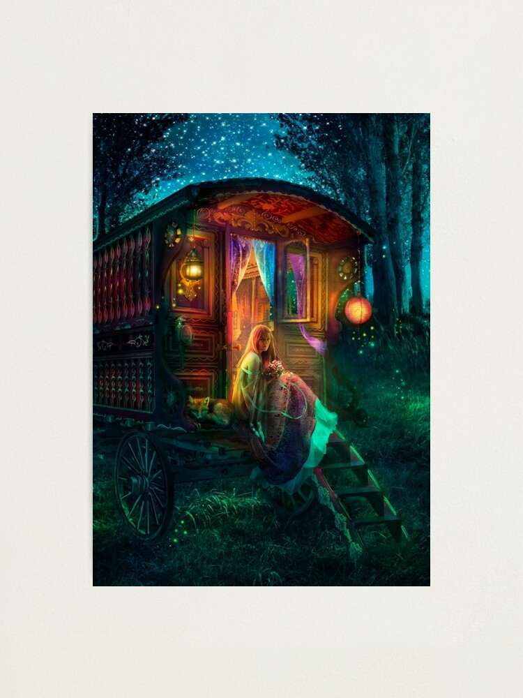 Alternate view of Gypsy Firefly Photographic Print