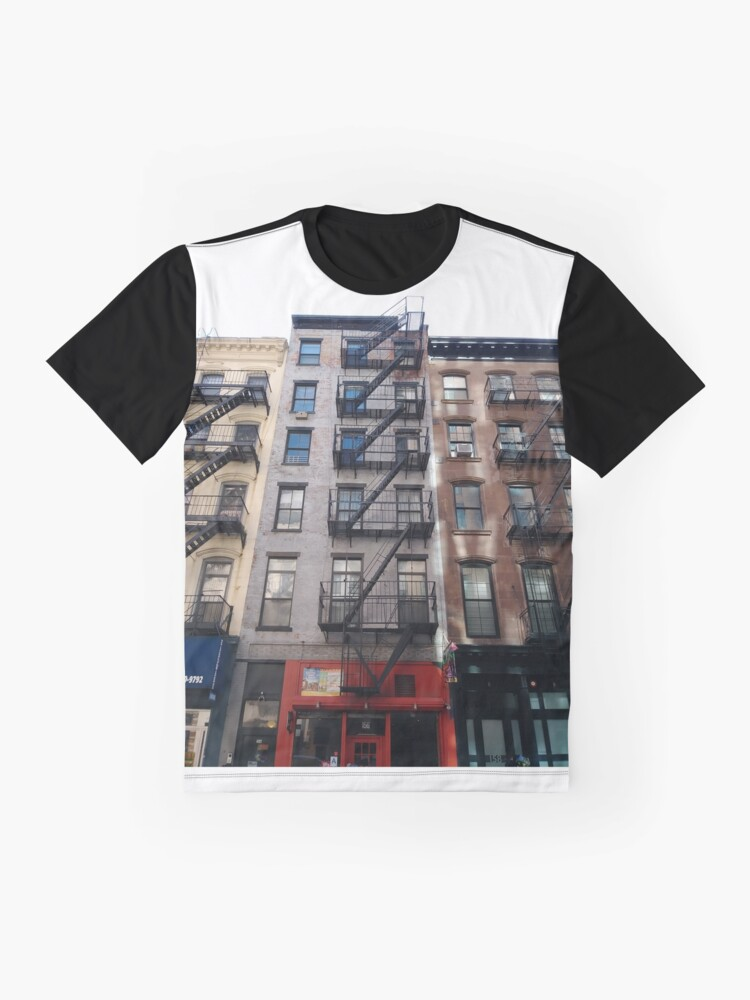 Alternate view of New York City, New York, Brooklyn, Manhattan, building, house, skyscraper, Street View, street Graphic T-Shirt