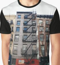 New York City, New York, Brooklyn, Manhattan, building, house, skyscraper, Street View, street Graphic T-Shirt