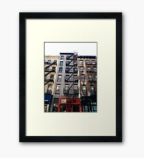 New York City, New York, Brooklyn, Manhattan, building, house, skyscraper, Street View, street Framed Print
