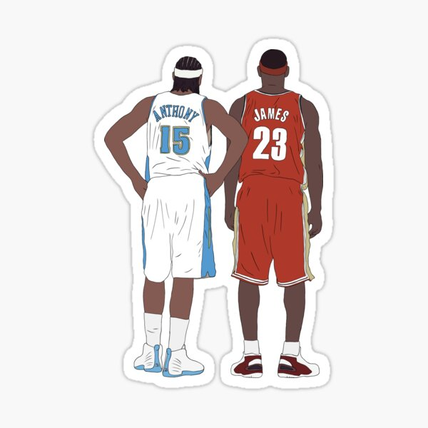 Young LeBron James And Carmelo Anthony Sticker