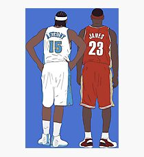 Young LeBron James And Carmelo Anthony Photographic Print