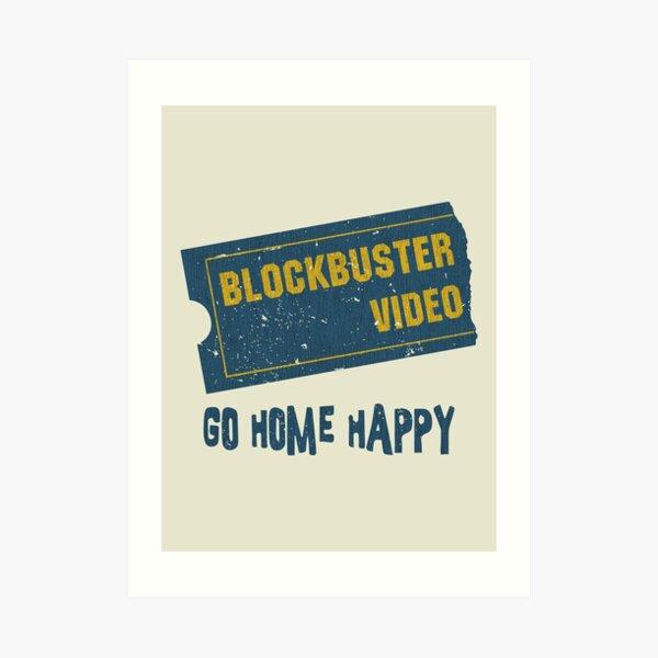 Blockbuster Video Vintage Art Print