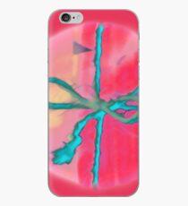 Atractivo azul eléctrico busca lazo rosa fluorescente... Vinilo y funda para iPhone