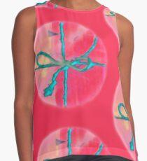 Atractivo azul eléctrico busca lazo rosa fluorescente... Blusa sin mangas