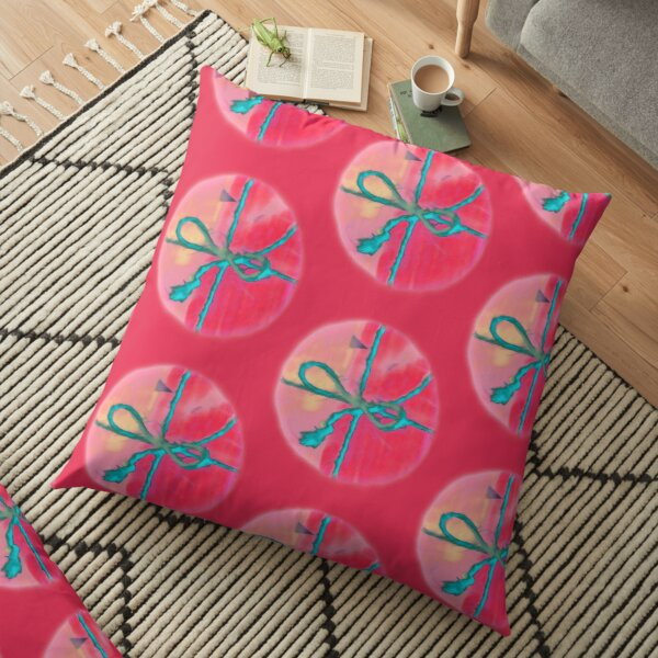 Electric Blue Lace Hugging Attractive Pink Wrap Floor Pillow