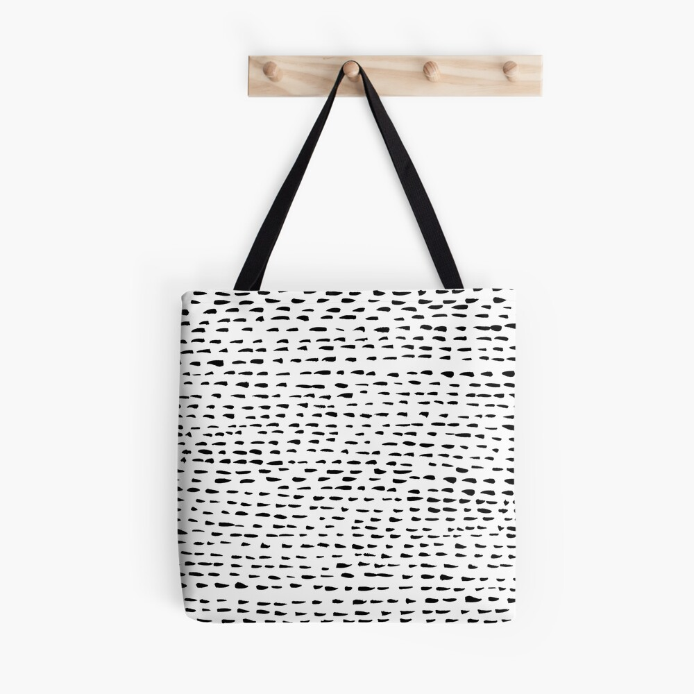 Abstract dotted lines minimalist pattern Tote Bag