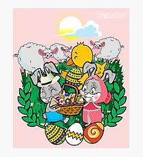 Hynzze- Easter Bunnies, Chick & Lambs Photographic Print