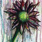 Distressed flower by Rachel Kelly