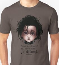 "Edward Scissorhands ""People are afraid of me because I'm different."" BITTY BADDIES Unisex T-Shirt"