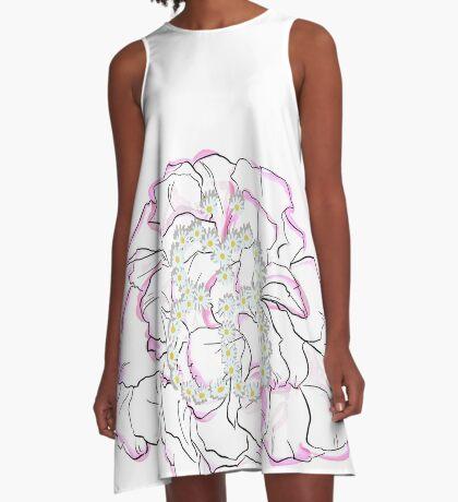 Schmetterlingsblume A-Linien Kleid