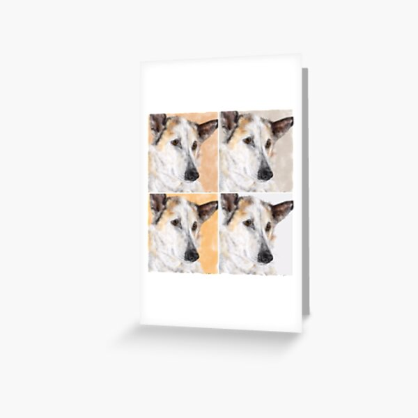 Sweet Pooch - In Four Shades  Greeting Card