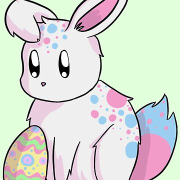 Cotton Candy Easter Bunny by Redvelvet4eVer