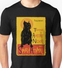 Camiseta unisex Funny American Staffordshire Terrier Cute Dog Chat Noir Mashup Art Design