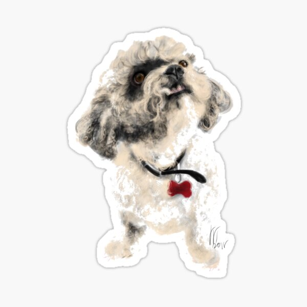 Angry Pooch  Sticker