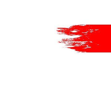 Yeezus Style Red Stripe Shirt by LiquidBass