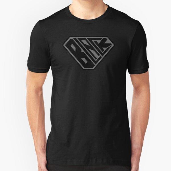 Black SuperEmpowered (Black on Black) Slim Fit T-Shirt