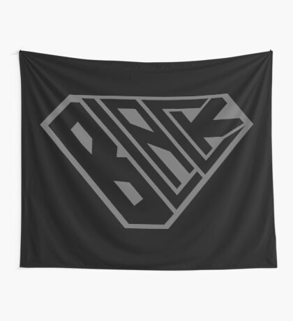 Black SuperEmpowered (Black on Black) Wall Tapestry