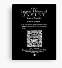 Shakespeare's Hamlet Front Piece - Simple White Version Canvas Print