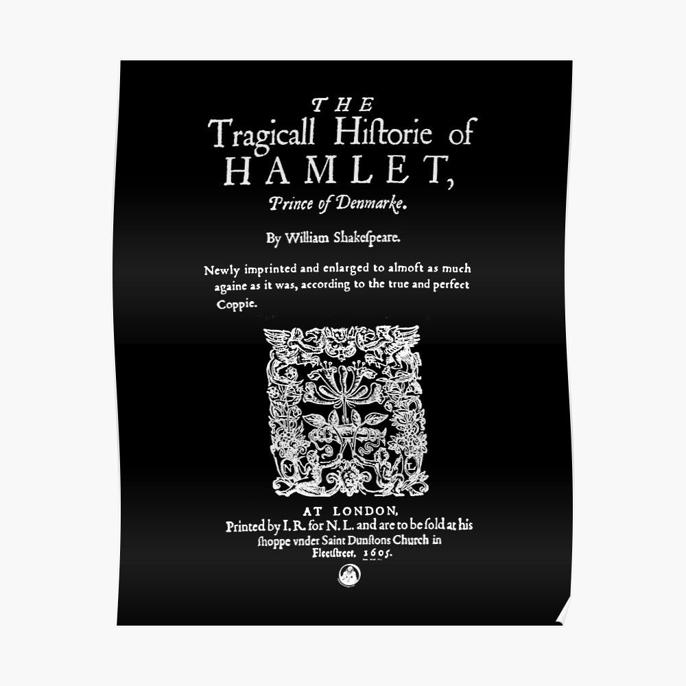 """Shakespeare's Hamlet Front Piece - Simple White Version ..."